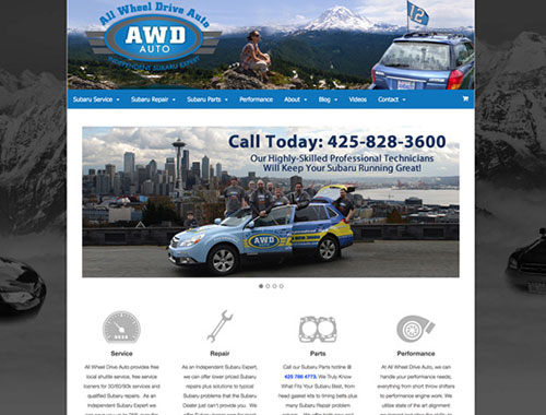 Website Designed for All Wheel Drive Auto Subaru Experts