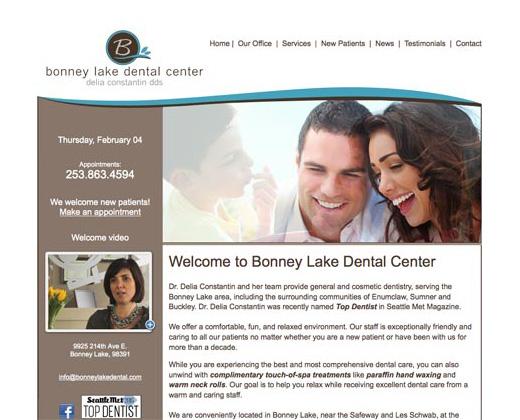 Bonney Lake Dental Website