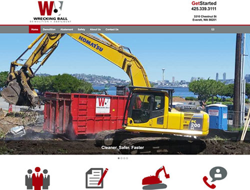 Website Designed for Wrecking Ball Demolition