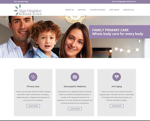 Website Designed for Sage Integrative Medicine Clinic Edmonds, WA