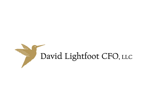 Logo Designed by P2 Graphic Design for David Lightfoot CFO, LLC in Edmonds, WA